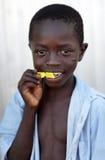 Orphan in an orphan boarding school on Mfangano Island, Kenya. Stock Image