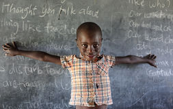 Orphan in an orphan boarding school on Mfangano Island, Kenya. Royalty Free Stock Photography