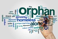 Orphan word cloud Royalty Free Stock Image