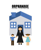 Orphanage concept Royalty Free Stock Images