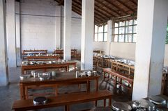 Orphanage mess hall Stock Image