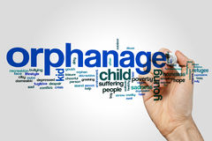 Orphanage word cloud Stock Image