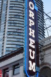 Orpheum neon lights Royalty Free Stock Images