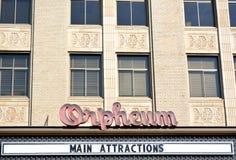 Orpheum Teater-Sioux stad, Iowa Arkivfoton