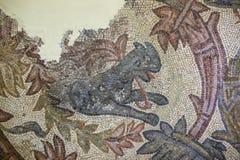 Orpheus mosaikfragment med geten royaltyfri bild