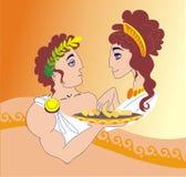 Orpheus y Evredika Imagenes de archivo
