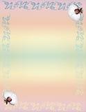 Orquídea de canto floral do projeto ilustração do vetor