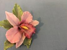 Orquídea pintado à mão da porcelana imagem de stock royalty free