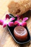 Orquídea rosada con el jabón Imagen de archivo