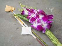 Orquídea tailandesa para la adoración Imágenes de archivo libres de regalías