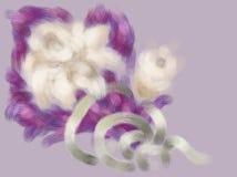 Orquídeas com fita de prata foto de stock