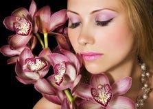 Orquídeas cor-de-rosa fotos de stock royalty free