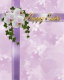 Orquídeas e hera da beira de Easter Fotos de Stock