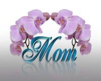 Orquídeas para a MAMÃ no dia de matrizes Fotografia de Stock Royalty Free