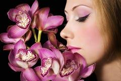 Orquídeas rosadas fotos de archivo