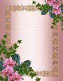 Orquídeas y frontera de la invitación de la boda de la hiedra Fotos de archivo libres de regalías