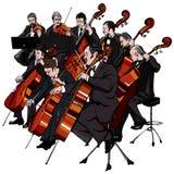 Orquesta clásica stock de ilustración