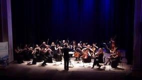 Orquesta de cámara de cuatro estaciones almacen de metraje de vídeo