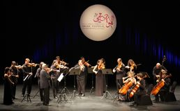 orquesta De Camara Reina索非亚在巴林执行 库存照片