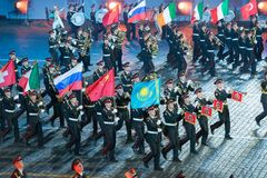 Orquesta de la escuela militar-musical de Moscú Imagen de archivo