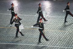 Orquesta de la escuela militar-musical de Moscú Fotos de archivo