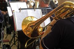Orquesta de la trompeta de la calle imagen de archivo