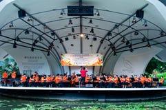Orquesta del chino de Singapur Fotografía de archivo