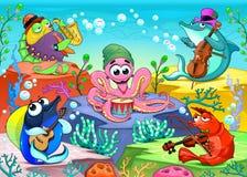 Orquesta en el mar ilustración del vector