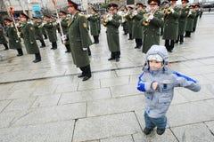 Orquesta militar Imagen de archivo libre de regalías
