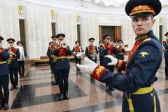 Orquesta militar Foto de archivo libre de regalías