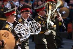 Orquesta militar Imágenes de archivo libres de regalías