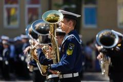 Orquesta militar en ceremonia Fotografía de archivo libre de regalías
