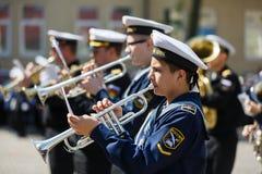 Orquesta militar en ceremonia Imágenes de archivo libres de regalías