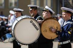 Orquesta militar en ceremonia Imagen de archivo