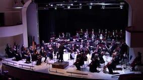 Orquesta sinfónica de Dnipro almacen de metraje de vídeo