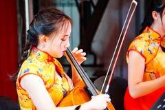 Orquestra da música nativa chinesa fotografia de stock