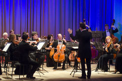 Orquestra de câmara de quatro estações Foto de Stock Royalty Free