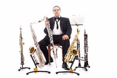 Orquestra do homem fotografia de stock royalty free