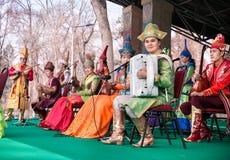 Orquestra do nacional do Cazaque Imagens de Stock