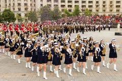 Orquestra fêmea Belle Epoque do Polônia Imagem de Stock