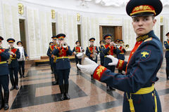 Orquestra militar Foto de Stock Royalty Free