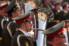 Orquestra militar Imagem de Stock