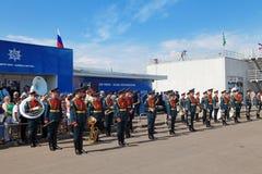 A orquestra militar Fotografia de Stock Royalty Free