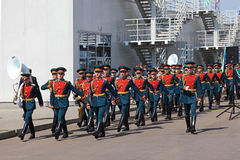 A orquestra militar Fotos de Stock