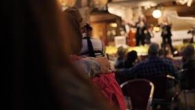 Orquestra no restaurante no quadrado de San Marco filme