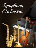 Orquestra sinfônica Foto de Stock Royalty Free