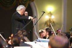 Orquestra sinfônica acadêmico da Moscovo filarmônica imagens de stock royalty free