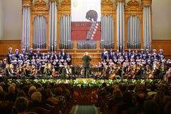 Orquestra sinfônica na noite da gala foto de stock royalty free