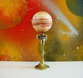 Orrery Machine Handmade By My Husband. Royalty Free Stock Photo
