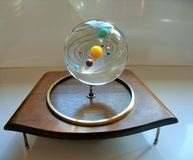 Orrery machine handmade by my husband. Stock Images